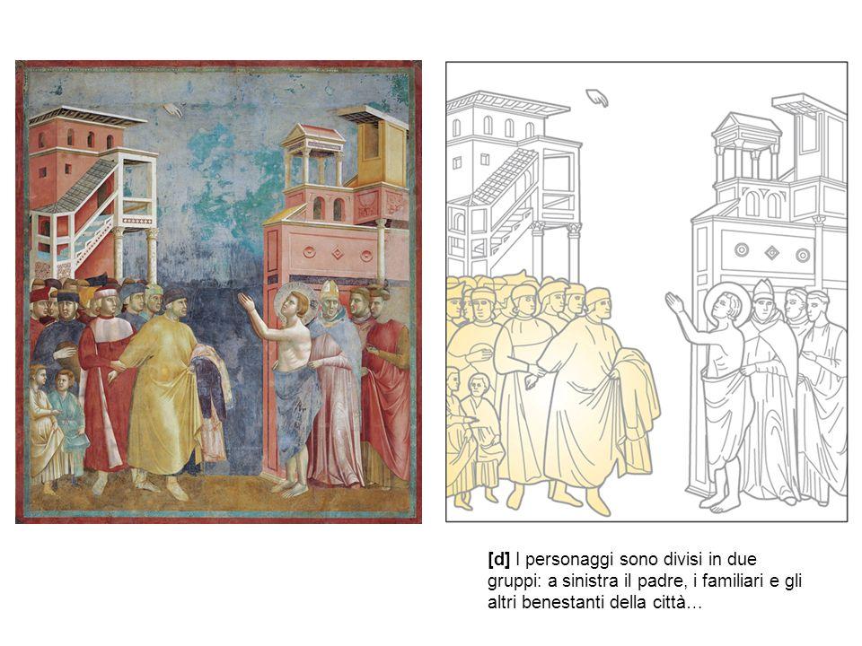 [d] I personaggi sono divisi in due gruppi: a sinistra il padre, i familiari e gli altri benestanti della città…